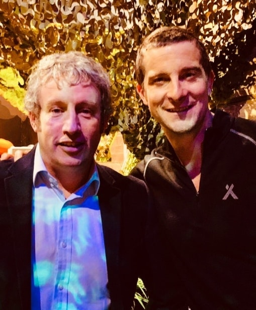frontgrid's matt wells with bear grylls