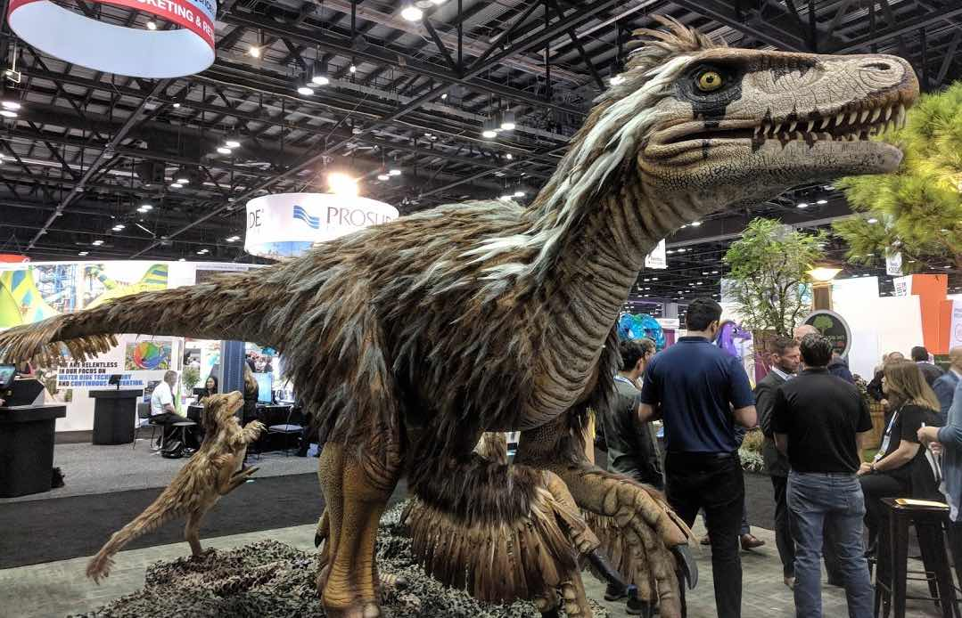Utahraptor at international attractions expo 2018
