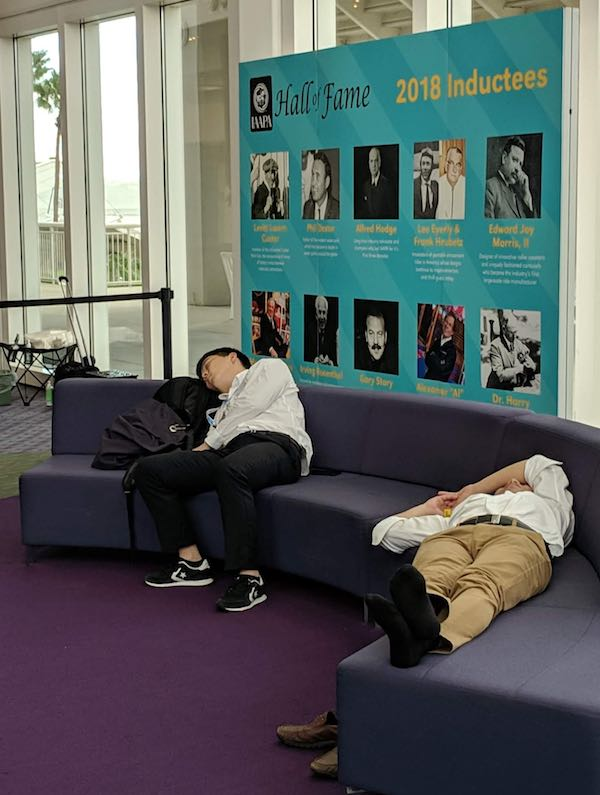 tired delegates international attractions expo 2018