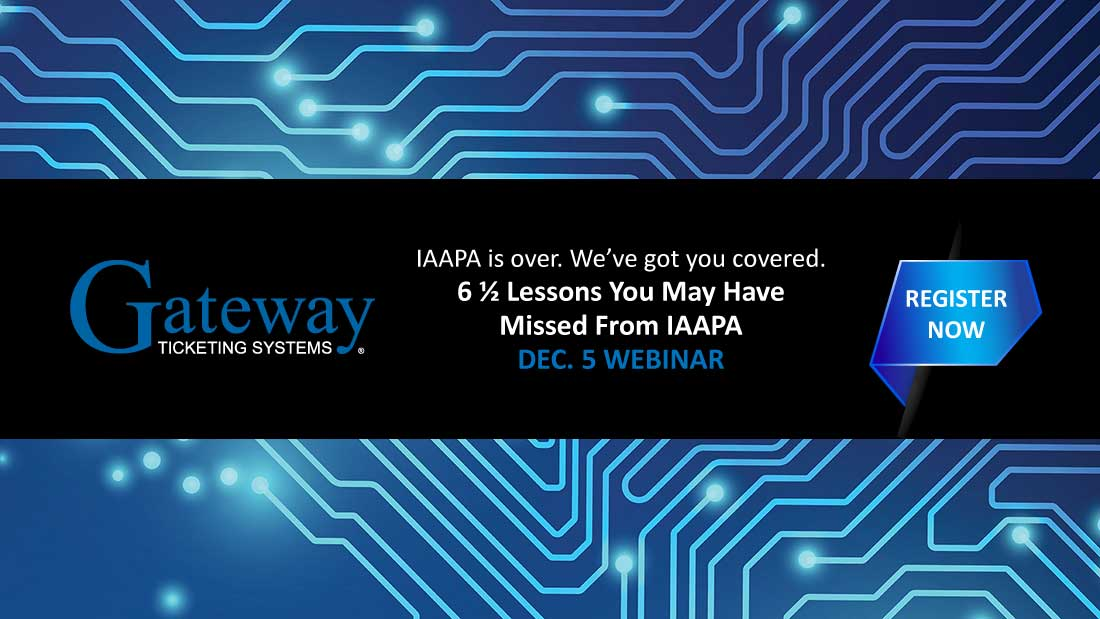 Gateway Ticketing Sytems IAAPA webinar