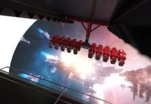 "Holovis has launched a patented attraction concept that it claims ""re-volves"" the flying theatre experience. L"