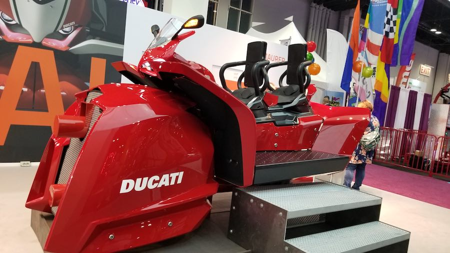 maurer ducati coaster car at iaapa trade show 2018.