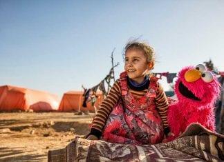 syrian refugee lego sesame workshop
