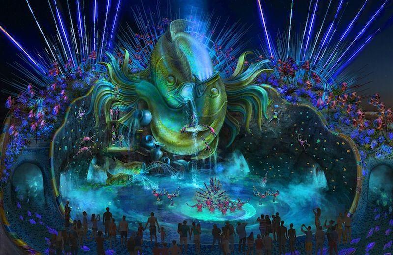 WhiteWater-Cirque-du-Soleil-waterpark_HIgh-Dive-attraction-night