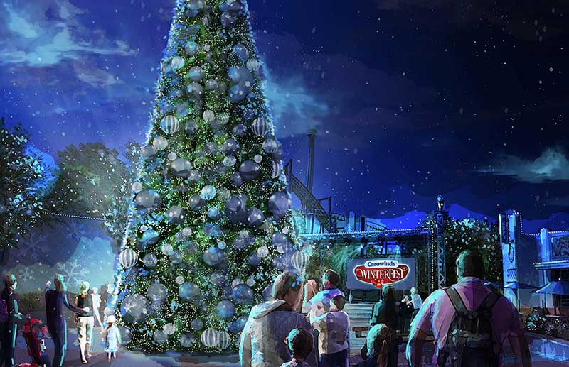 carowinds cedar fair christmas