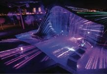 Laservision lights up Abu Dhabi's Reem Island