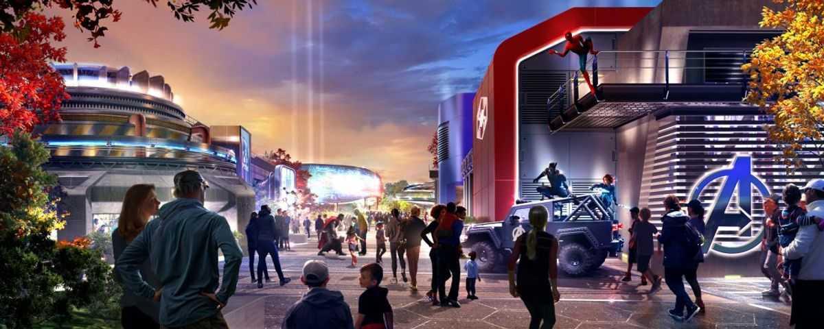 Disneyland Paris Marvel Entry Concept