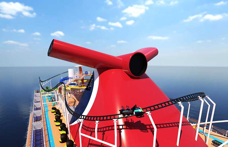 bolt rollercoaster at sea carnival