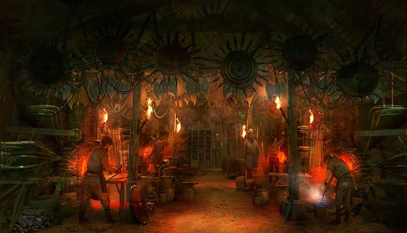 concept art from puy du fou new ride