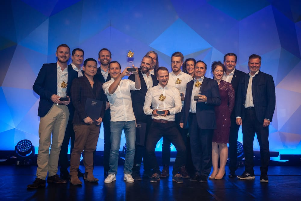 Winners and Judging panel at the AUREA Awards held at Europa Park, MackMedia
