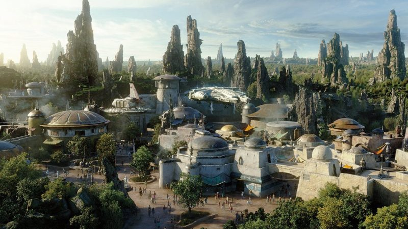 star wars land concept art. galaxy's edge experience