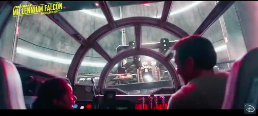 Galaxy's Edge interactive experiences millennium falcon interior star wars land.