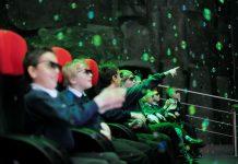 Kids in Simworx 4D Cinema