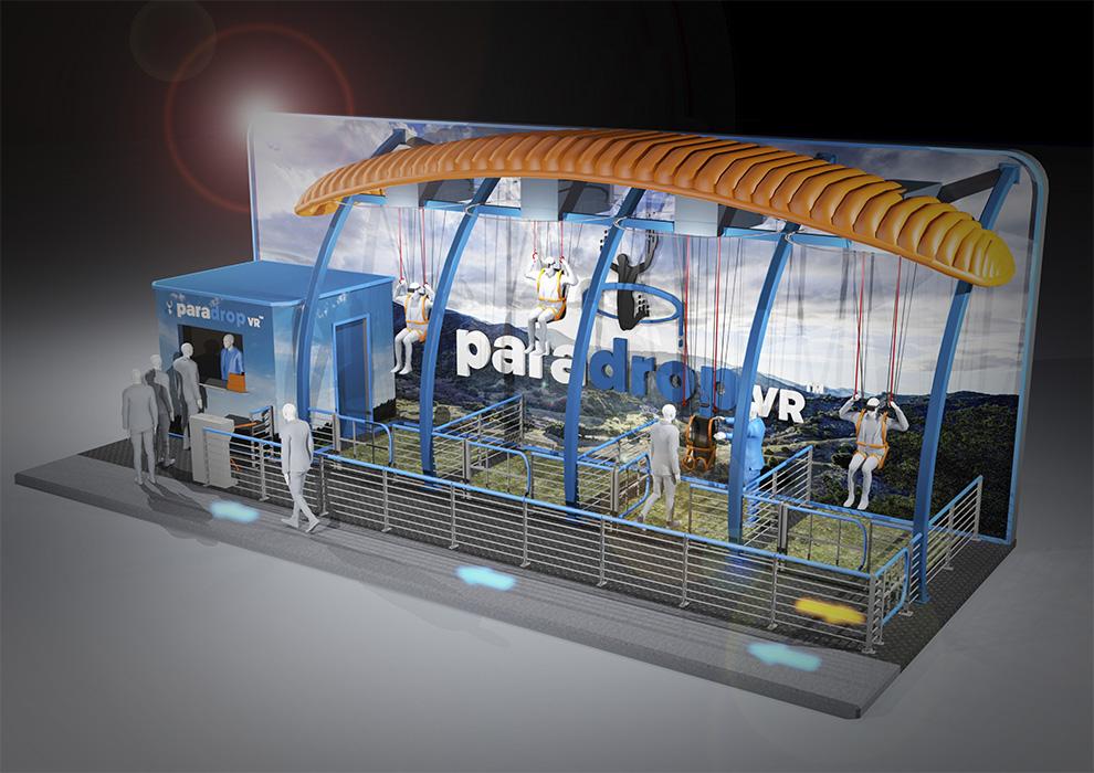Simworx Paradrop VR Ride Concept Art