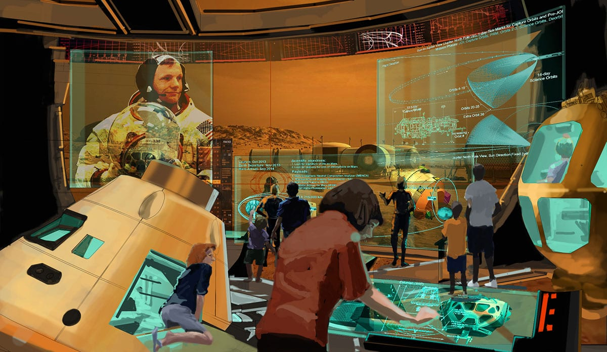 PGAV Destinations creates Space Exploration Gallery for Cincinnati Museum Center CMC