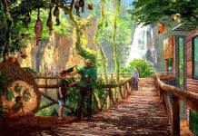 Concept art for World of Birds area at San Antonio Zoo