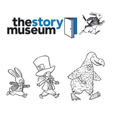 the story museum logo plus dodo and hatter