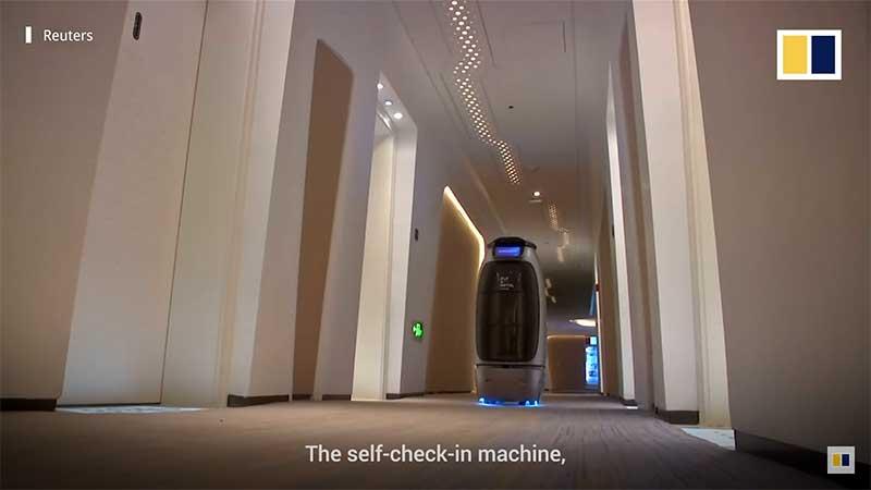 self check-in machine