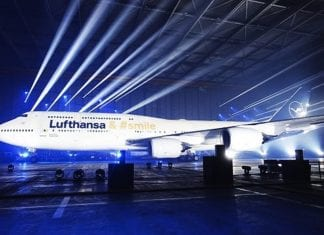 Lufthansa-Christie-projection-on-plane