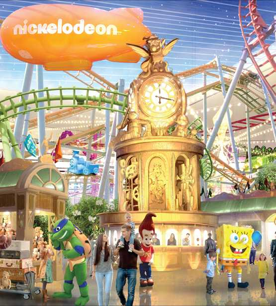 Concept art of Nickelodeon Universe at American Dream Mall