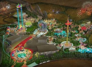 Six Flags Dubai Theme Park concept art