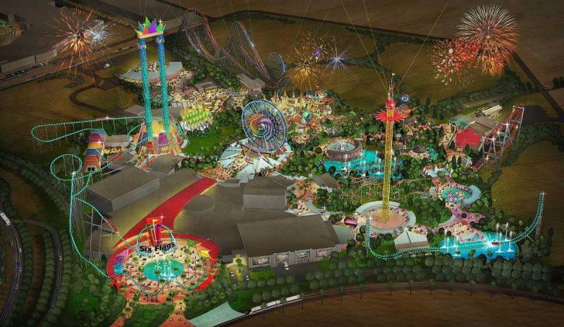 Six Flags Dubai Theme Park concept art
