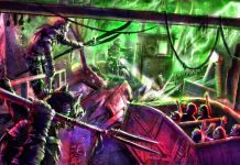 Road-Rage-stunt show dark ride Trans-Studio-Bali_artwork