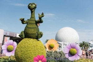 Epcot International Flower and Garden Festival Figment Topiary Epcot's World Showcase