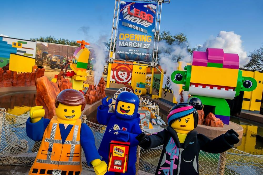 lego movie world opening date