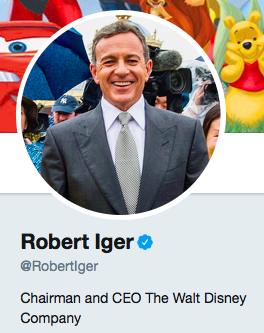 Bob Iger CEO disney twitter