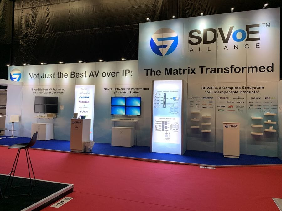 SDVoE Alliance Booth at ISE 2019