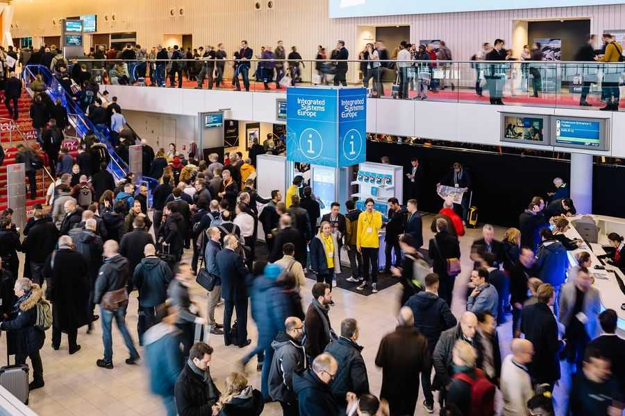 ISE 2019 floor full of attendees