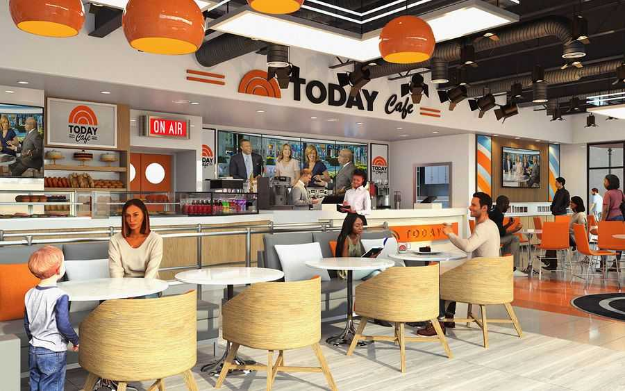 Concept art of the TODAY Cafe at Universal Studios Florida