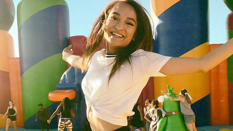 Adult active play at Big Bounce inflatable theme park