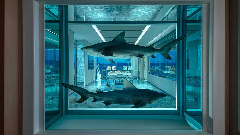 artainment: damien hirst designs $100k a night empathy suite in las vegas
