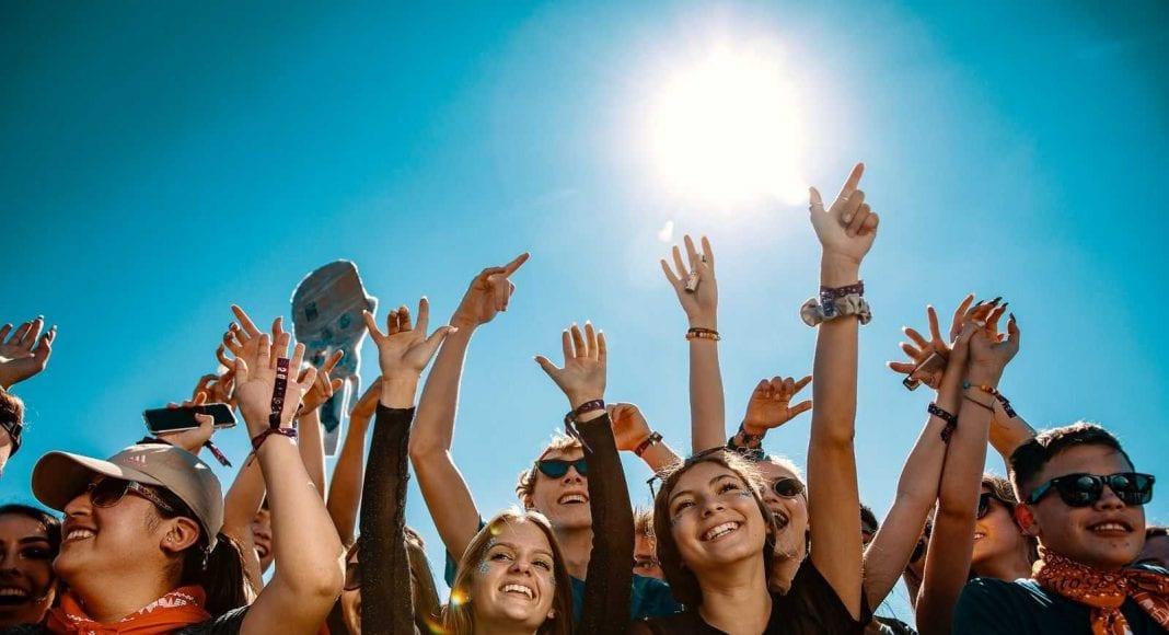 Festival goers enjoying themselves at Mala Luna Music Festival, Connect&GO