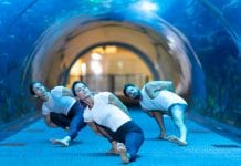 nderwatunderwater yoga at Dubai Aquarium