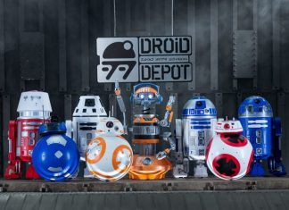 merchandise at droid depot star wars galaxys edge disney blooloop