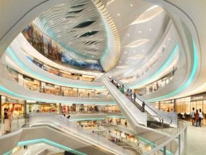 Interior of Mosaic Xi'An Mall, Pradera Retail Asia