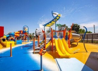 Waterplay play area