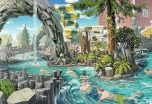 Concept of Vildstrøm river at Rulantica Europa Park