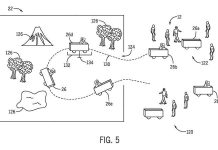Universal patent for driverless vehicles to transport guests at theme parks