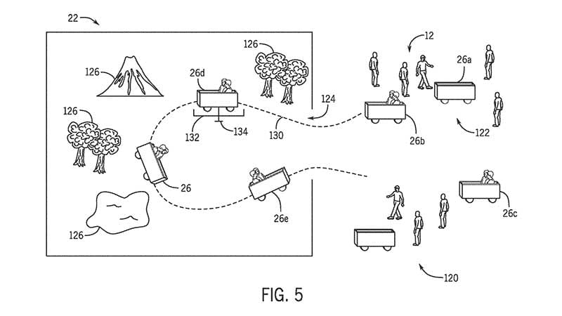 Universal files patent for driverless vehicles to transport guests at theme parks