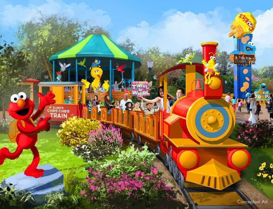 Elmo's Choo Choo Train concept at Sesame Street Land at SeaWorld Orlando