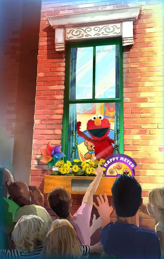 Elmo's Window concept at Sesame Street Land at SeaWorld Orlando