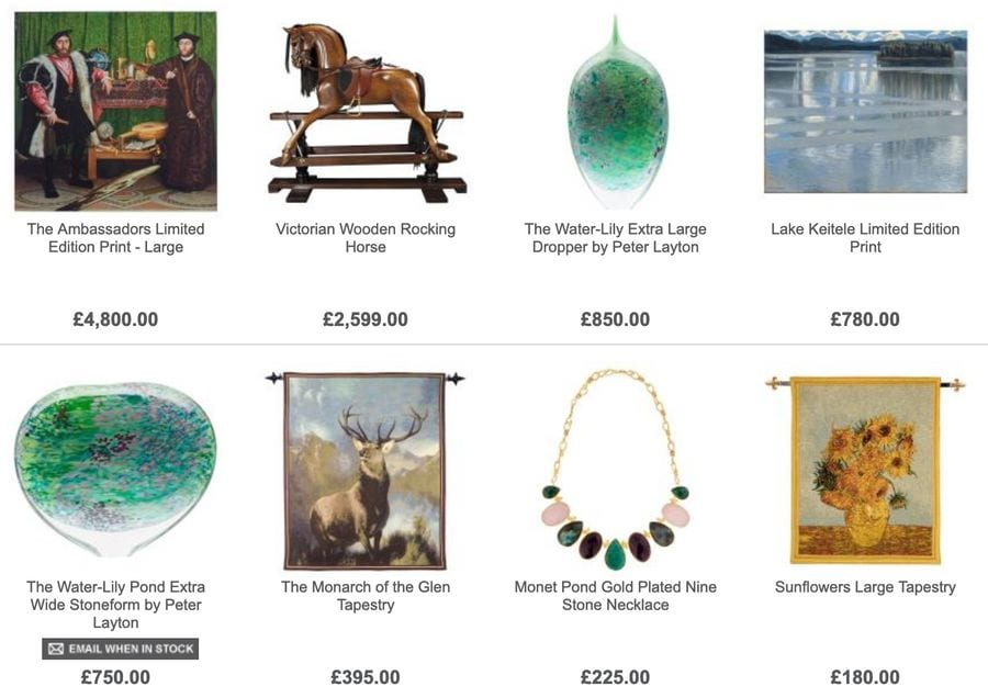 The National Gallery Store gifts for sale