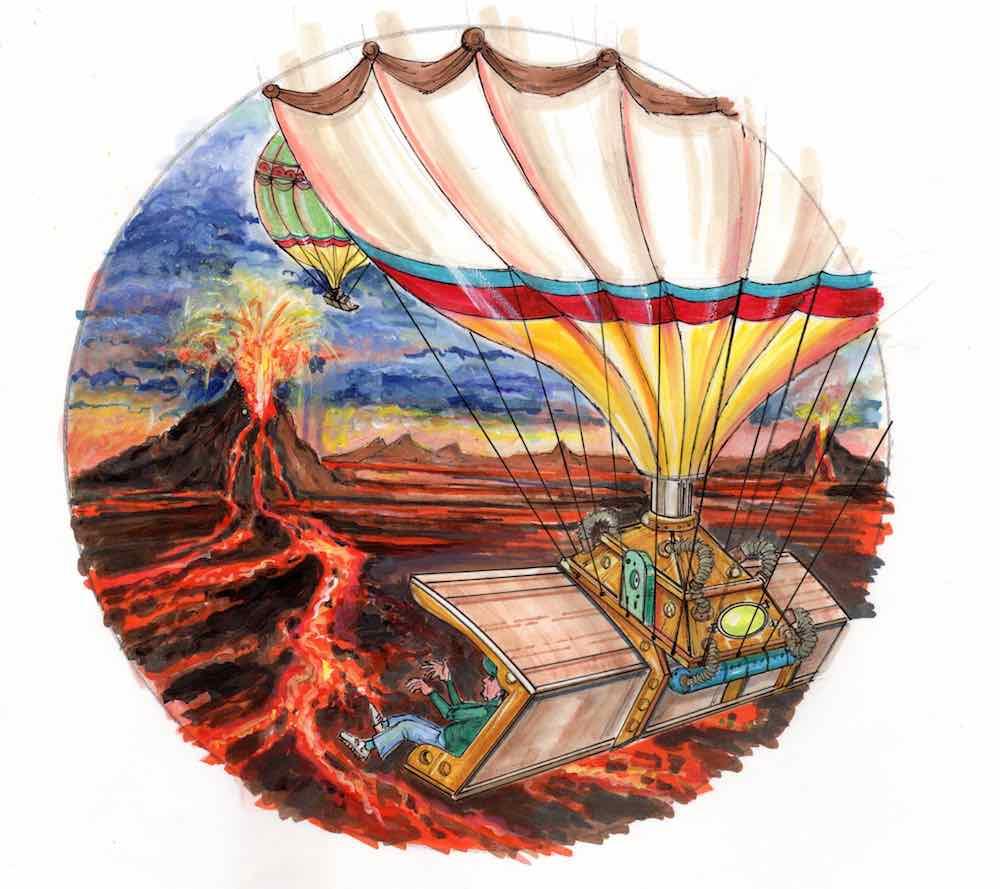 Balloon Fly 360 Project syntropy Intamin Valerio Mazzoli