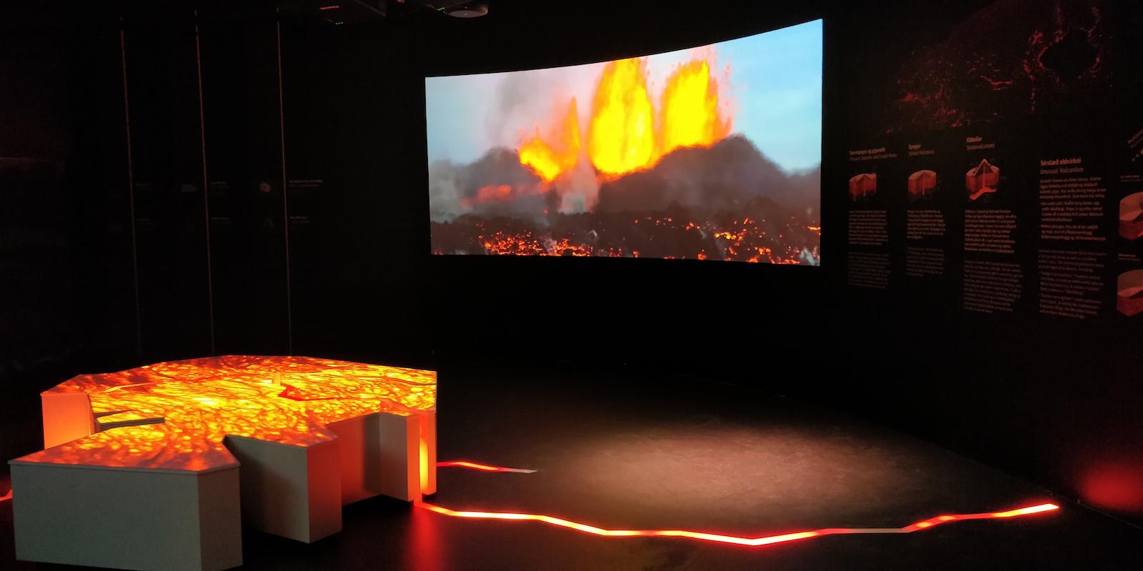 perlan museum volcano realisations montreal installation