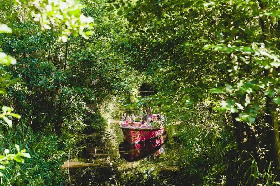 BeWILDerwood guests on boat ride