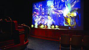 Popcorn-Revenge-Walibi-Belgium-ride-vehicles-and-screen interactive dark rides